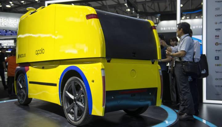 O veículo autônomo de distribuição Neolix foi desenvolvido a partir da plataforma de código aberto Apollo, do Baidu, e já está em teste. ZIGOR ALDAMA